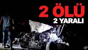 Birecik'te feci kaza 2 ölü, 2 yaralı