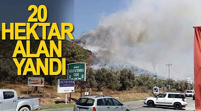 Bodrum'da yangın yerleşim alanlarına ilerliyor