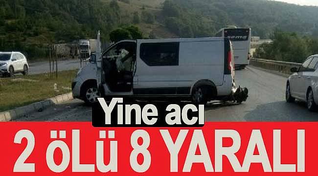 Kavak'ta feci kaza 2 ölü 8 yaralı