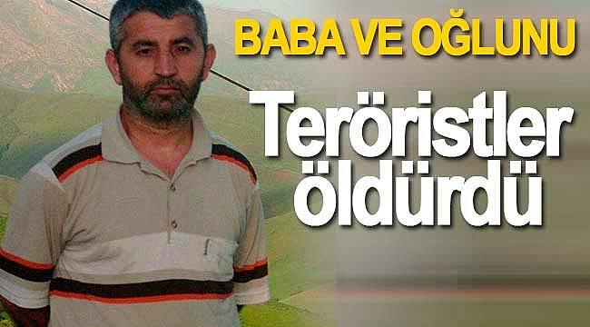 Teröristler baba ve oğlunu öldürdü