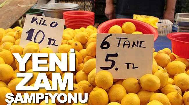 Yeni zam şampiyonu limon