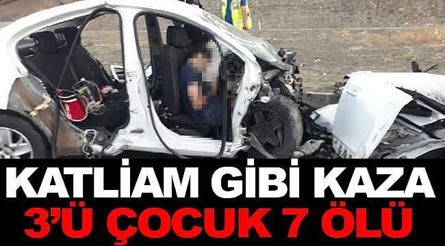 Erzincan'da feci kaza 3'ü çocuk 7 ölü