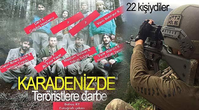 Karadeniz'de PKK'nın terörist grubu etkisiz hale geldi
