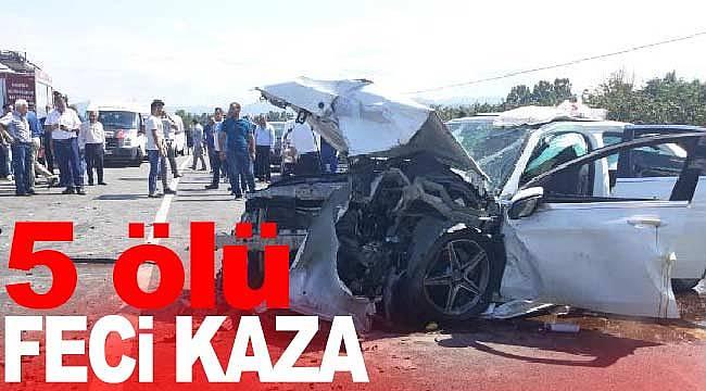 Salıpazarı'nda yürek yakan kaza 5 ölü