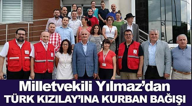 Yılmaz'dan Türk Kızılay'ına kurban bağışı