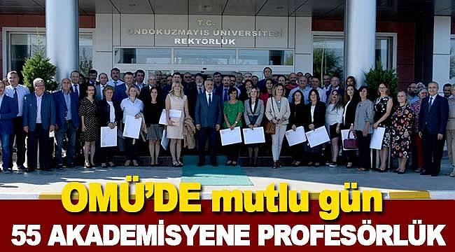 55 akademisyen profesörlük unvanını aldı