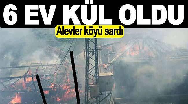 Mahalleyi alevler sardı, 6 konut yandı