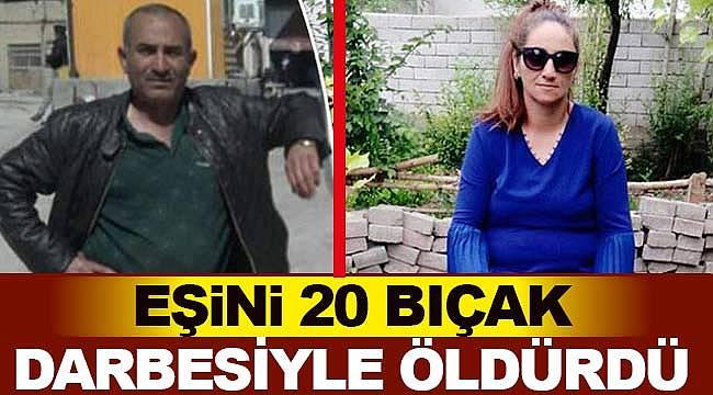 Sekiz çocuk annesi eşini 20 bıçak darbesiyle öldürdü