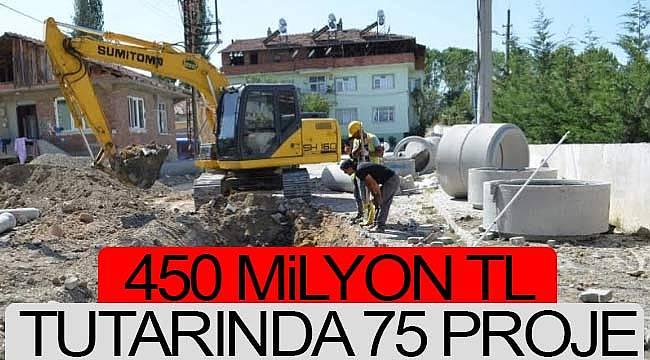 450 milyon TL'lik proje devam ediyor