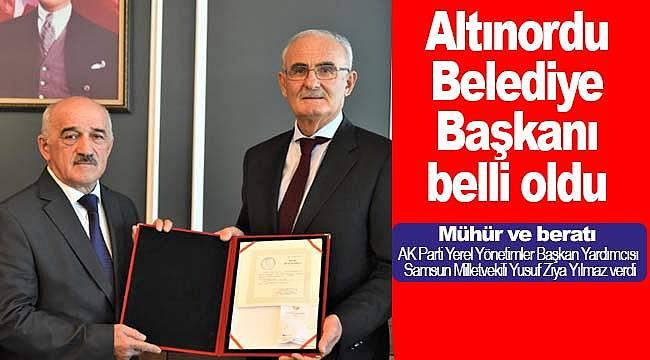 Altınordu Belediye Başkanı Celal Tezcan seçildi
