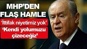 Bahçeli açıkladı AK Parti MHP ittifakı yerel seçimde yok