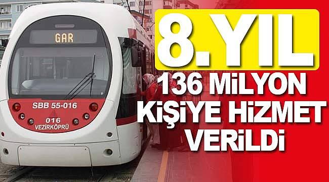 Samulaş 136 milyon yolcu taşıdı