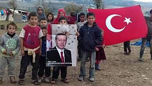 Afrin'e Samsun'dan Türk Bayrağı