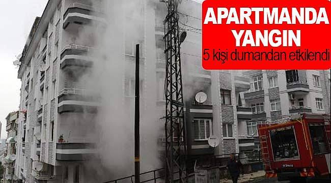 Apartmanda yangın korkuttu