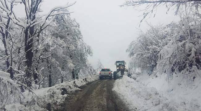 Büyükşehir'de kar mesaisi