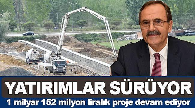 Büyükşehir'de yatırım hızla devam ediyor