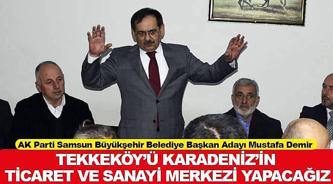 Tekkeköy Karadeniz'in ticaret ve sanayi merkezi olacak