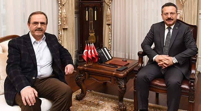 Vali Aksoy, başkan Şahin'i ağırladı