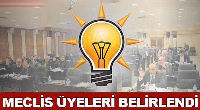 AK Parti Samsun meclis üyeleri listesi belirlendi