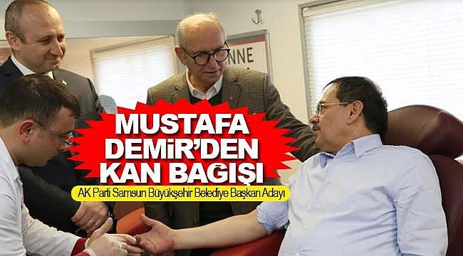 Mustafa Demir'den kan bağışı