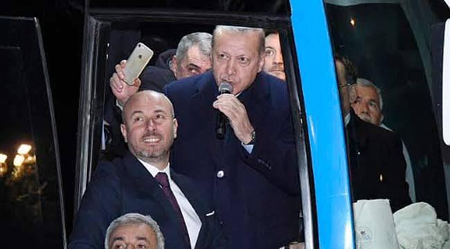 Tekkeköy Cumhurbaşkanına sevgisi gösterdi