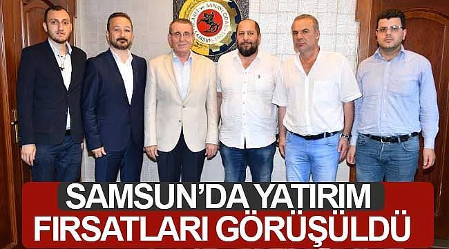 Samsun'daki yatırım fırsatları görüşüldü