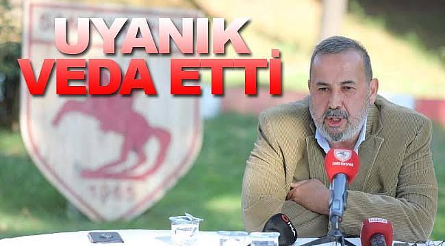 Samsunspor'da İsmail Uyanık veda etti