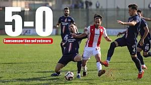 Samsunspor'dan deplasmanda gol yağmuru