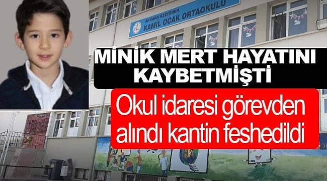 Ankara Keçiören'de öğrenci Mert'in ölümüyle ilgili okul yöneticileri açığa alındı