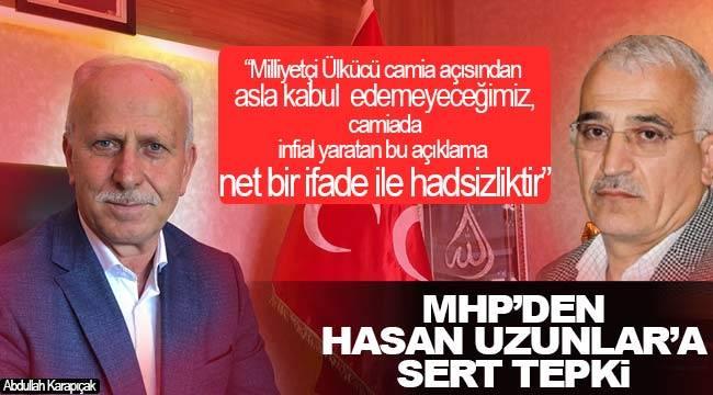 MHP'den AK Partili meclis üyelerinin açıklamalarına sert tepki