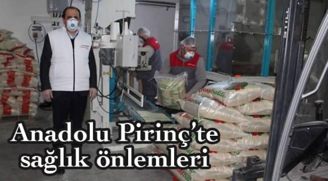 Anadolu Pirinç'te maske ve eldivensiz çalışmak yasak