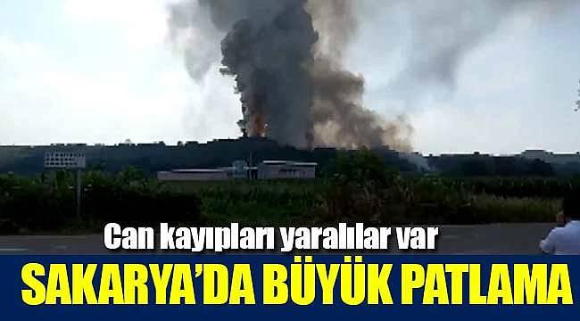 Sakarya'da havai fişek büyük patlama