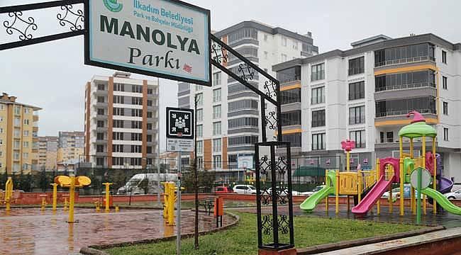 Manolya parkına yeni isim